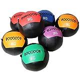 Bolas de medicina, Bola de pared Cose reforzada a mano de bola de golpe suave Soft Slip Superficie y Unisex Adulto Funcional Fitness Fitness Ball Balls 2kg 3kg 4kg 5kg 6kg 8kg 9kg 10kg 12kg,3KG