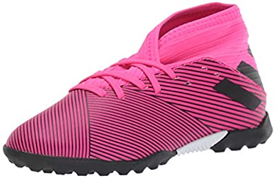 adidas Unisex-Kid's Nemeziz 19.3 Turf Soccer Shoe, Shock Pink/Black/Shock Pink, 6 M US Big Kid