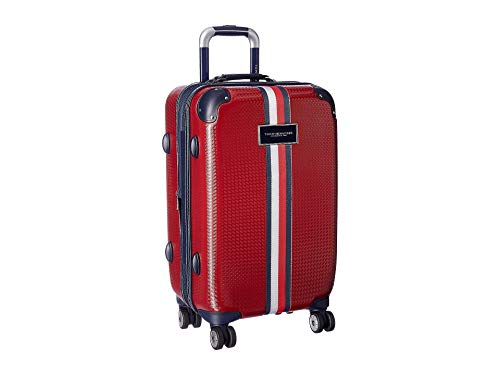Tommy Hilfiger Basketweave - 21' Upright Suitcase Red One Size
