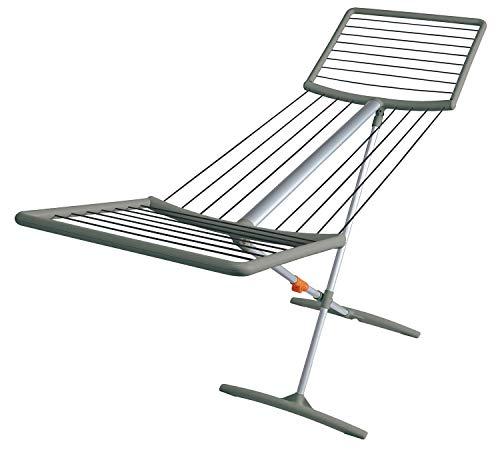 Juwel 40809 Fashiondry Séchoir à Linge avec Corde à Linge en Aluminium Gris 18 m