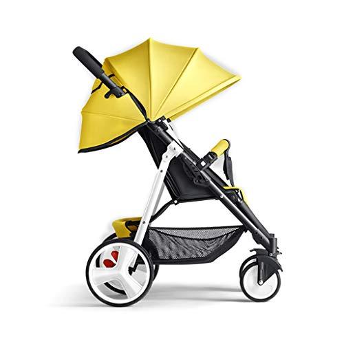 MAGO Plegable Silla de paseo desde el nacimiento hasta 25 kg, de peso ligero con la mentira Posición (Color : 3)