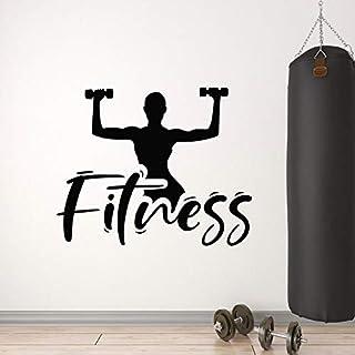 Wall Decals Gym Body Training Center Sports Decoration Vinyl