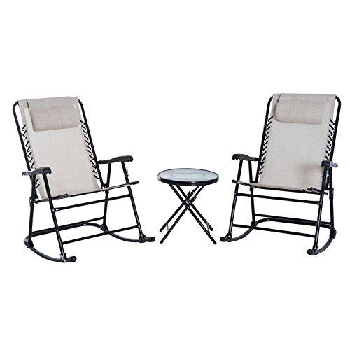 Outsunny Set de Muebles de Jardín Mesa Redonda Ø46x49 cm y 2...