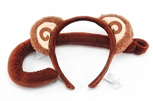 elope Monkey Ears Costume Headband and Tail Kit for Kids
