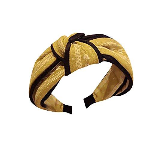 OSYARD Damen Mädchen Stirnband Kopfband Headband, Frauen Yoga Elastische Niedliche Haarband Turban Twisted Knotted Bandanas Stirnbänder,Gatsby Flapper HeadbandKopfband für Alltag Yoga Sport Fitness