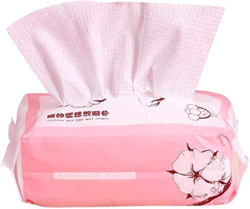 Lot de 60 lingettes douces et sèches jetables pour le visage en coton, tissu non tissé, jetable pour le visage, tissu en coton pour le visage, le maquillage, les mouchoirs pour le visage