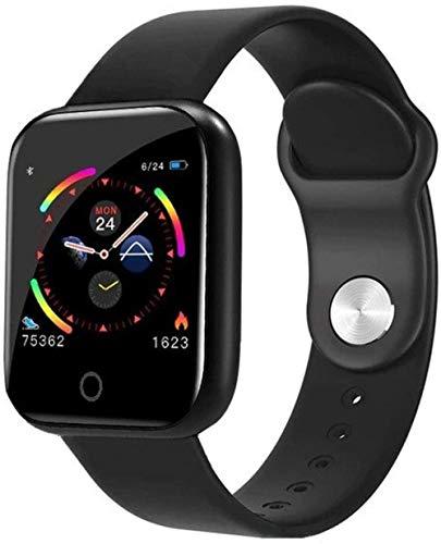Reloj inteligente Reloj digital para hombre y mujer, reloj de pulsera electrónico LED para mujer, reloj de pulsera para hombre y mujer, reloj de pulsera femenino (color: blanco)-negro