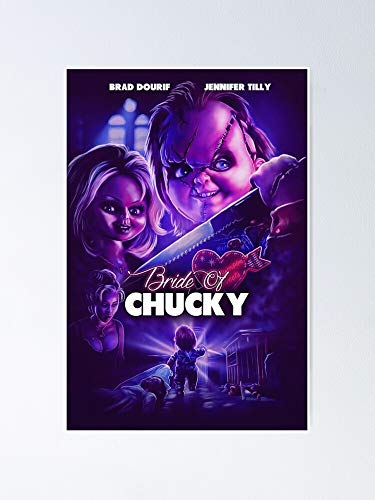 guyfam Chucky's Bride Poster 12x16 Inch No Frame Board for Office Decor, Best Gift Dad Mom Grandmother and Your Friends