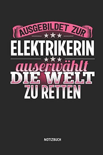 Notizbuch: Lustiges Elektriker Notizbuch mit Punktraster. Tolles Zubehör & Elektrikerin Geschenk Idee zur bestandenen Gesellen Prüfung.