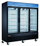 Xiltek 3 Glass Door Commercial Merchandiser Freezer - Upright Reach In Freezer - Display Freezer - 53 Cu. Ft.