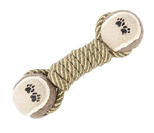 milopon cuerda de algodón juguete perro nudo con pelota Mascar sólido para limpieza de dientes entrenamiento cachorro
