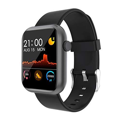 COLMI P9 Smart Watch Bluetooth Herzfrequenz-Blutdruckmessgerät, Premium-Fitness-Tracker, voll haltbarer Touchscreen, Unisex Kalorienzähler, wasserdicht IPX7 UK + kostenlose App (schwarz)