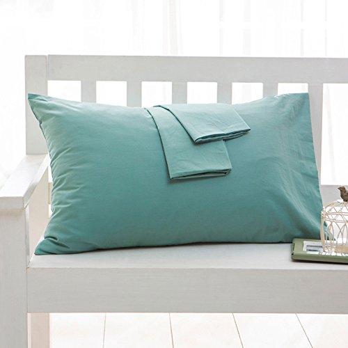 Blankspace Funda de almohada 1 funda de almohada 100% algodón, funda de almohada grande para el hogar (color: 3, tamaño: 40 x 70 cm, 2 piezas)