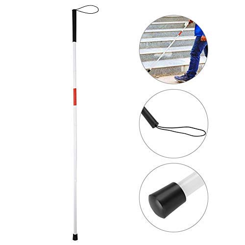 TMISHION blindenstok, blindenstok, vouwstok met rubberen greep, Aclumsy wandelstokken, Walking Stick 48,8 inch aluminium Mobility Walking Stick Folding Cane for The Blind