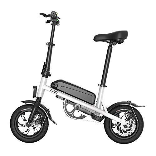 Hold E-Bikes Daibot Mini Bicicleta eléctrica 12 Pulgadas Two Wheesl 36V Motor sin escobillas Color Rojo portátil Plegable Bicicleta eléctrica E Bicicleta para Adultos@Blanco_80 km