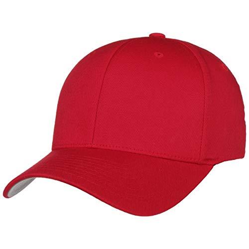 Hutshopping Flexfit Casquette originale Rouge (Taille L/XL), dessous de la visière gris argenté - Rouge - Taille Unique