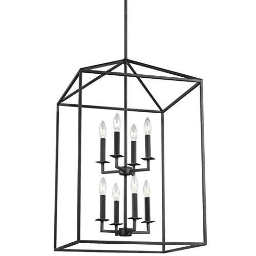 Sea Gull Lighting 5115008-839 Perryton Eight-Light Hall/Foyer, Blacksmith Finish