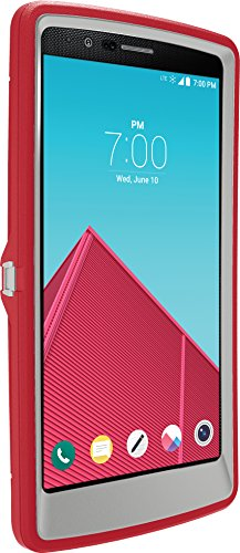 OtterBox Defender Case for LG G4 - Retail Packaging - Sleet Grey/Scarlet Red