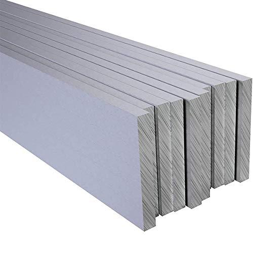 LOKIH Chapa De Aluminio Barra Plana, Placa De Aleación De Metal De Aluminio, Utilizado para La Fabricación De Proyectos De Bricolaje, 10Pcs Longitud: 200 Mm Espesor: 3Mm,3mmx30mmx200mm