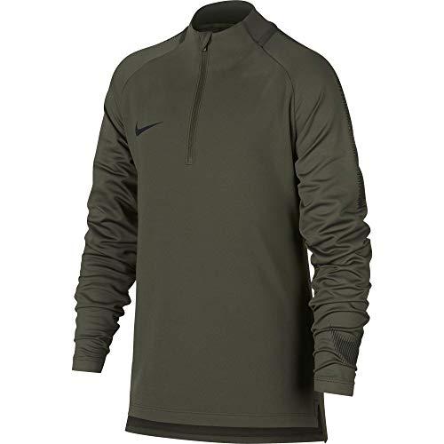 NIKE B NK Dry SQD Dril 18 Camiseta, Niños, Verde (Cargo Khaki/Black), M