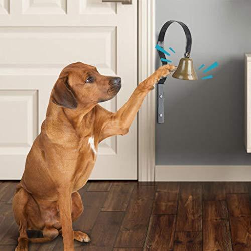 Training Huisdier Hond Klokken Muur Gemonteerd Jingle Bell Metalen Shopkeepers Deurbel Hond Training Bell Home Decoratie, 18 * 8cm, Zwart