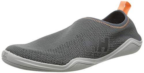 Helly Hansen W Crest Watermoc, Zapatillas Impermeables Mujer, Gris (Charcoal/Ebony/Light Grey 964), 41 EU