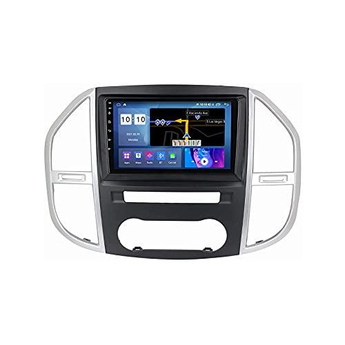 Android 10.0 coche Radio Stéreo Para B-enz Vito 3 2014-2020 Multimedia Player FM Reproductor GPS Navegación IPS Pantalla Táctil Soporte 4G Wifi SWC Carplay Bluetooth DSP,4 Core 4G+WiFi: 1+32GB