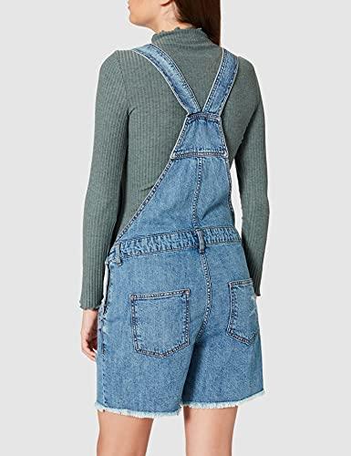Only Onlayla Life SL Authentic Dnm Playsuit Jeans, Medio De Mezclilla Azul, M para Mujer