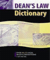 Deans Law Dictionary