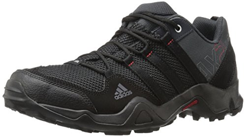 adidas outdoor Unisex AX2 Hiking Shoe, Dark Shale/Black/Light Scarlet, 9.5 US Men