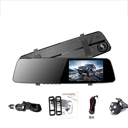 JSX HD Nachtsicht-Fahrenrecorder, 4,3-Zoll-1080P Auto-Rückspiegel Auto Dvr volle HD 1080P Kamera-Auto-Reverse-Bild-Doppelobjektiv-Schlag-Nocken
