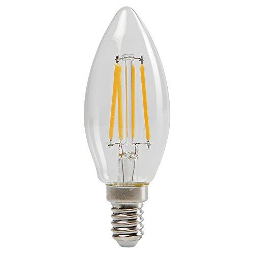Sylvania 0027282 Toledo rétro Bougie lampe LED, verre, maison lumière, E14, 4 Watts