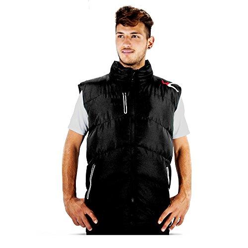 LEGEA heren donsjack Artico Bomber bodywarmer vest jas mouwloos winterjas windjogging voetbal hardlopen training sport