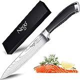 Cuchillos jamón Nego de 9,5 pulg - Cuchillo perfecto para cortar sushi y sashimi, filetear y rebanar el pescado - Cuchilla de acero inoxidable muy afilada con alto contenido de carbono y cuchilla