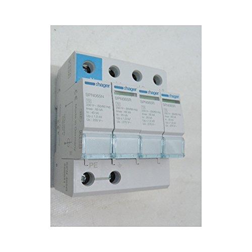 Hager–Limiter Überspannungsschutz 3-polig + neutral 65KA mit Hilfskontakt