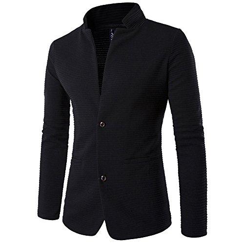 ZhuiKun Chaquetas Blazer Hombre Casual Slim Fit Dos Botones Chaqueta Corto Abrigo