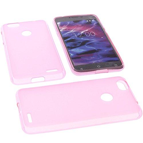 foto-kontor Tasche für MEDION Life E5008 Hülle Gummi TPU Schutz Handytasche pink