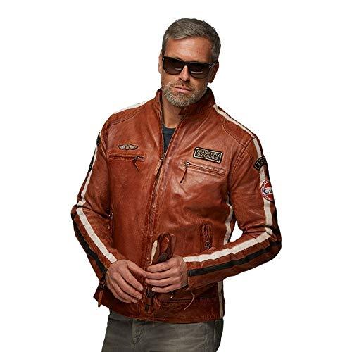 Grandprix Originals Gulf Classic Race Leather Jacket Cognac S