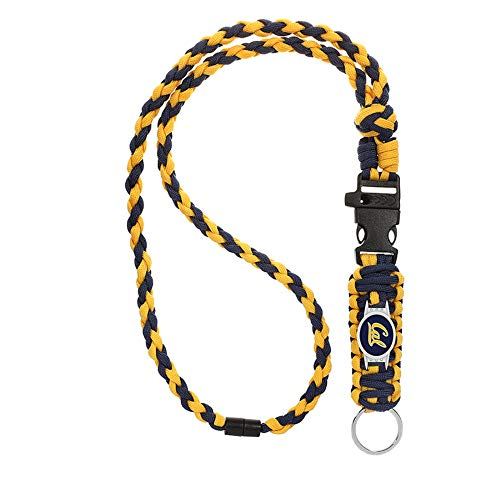 Swamp Fox California Cal Golden Bears Paracord Lanyard with Team Charm, Neck Clasp, and Keychain Release…