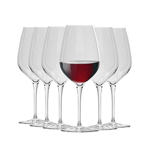 Bormioli Rocco Inalto Tre Sensi Bicchieri da Vino Grande - 550ml - Confezione da 12