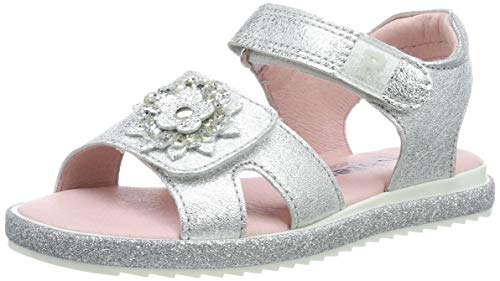 Richter Kinderschuhe Bios, Sandales Bride Cheville Fille Argent (Silver 0200) 34 EU