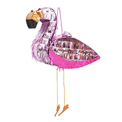 NUOBESTY 1 pinata Flamingo hoja parte de aluminio Carnaval colorido, accesorios de...