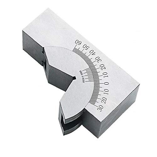 shentaotao Winkelmesser Winkel V Blöcke Ap25 90 ° Einstellbare Höchste Präzision Für Fräsen Drehmaschine Mit Schraubenschlüssel Silber