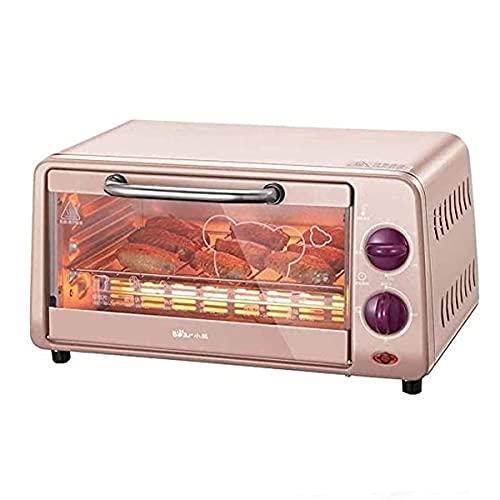 THj Horno eléctrico de sobremesa Horno de 10 l con Ajuste de Temperatura de 0-230 ° C y temporización de 0-30 min Horno multifunción de 800 W con Puerta de Vidrio Doble 36 × 29,5 × 17,4 CM