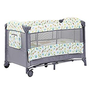 Rocking Chair Baby Travel Bed Crib Infant Sleeper Newborn Multi-Function Appease Shaker Portable Folding Rocking Bassinet Suitfor 0-36 Months Nursery Bed