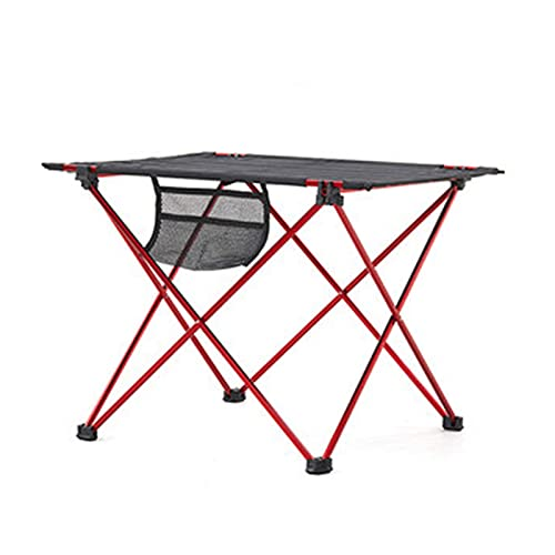 QiHaoHeji Mesa Plegable Mesa y Silla Plegables al Aire Libre Coche portátil Auto-conducción Mesa de Picnic Ultra Light Barbecue Tabla de Camping (Color : Red, Size : 56x43x41cm)