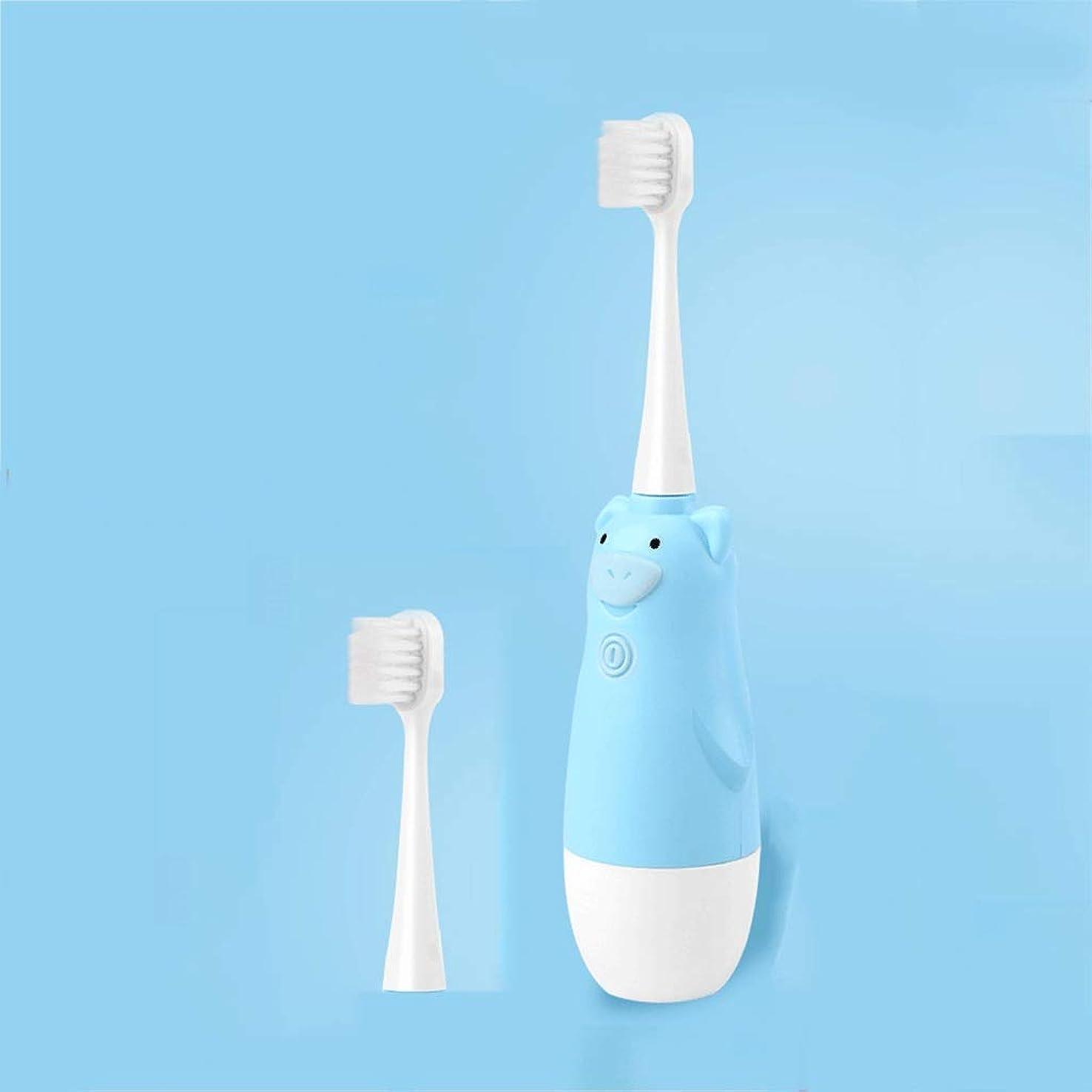 投資元気鎖電動歯ブラシ ?DDYS子供の電動歯ブラシ柔らかい髪音波振動ケア若い歯自動歯ブラシ (色 : B)
