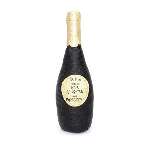 Lesser & Pavey Black Prosecco Bottle Doorstop, one size