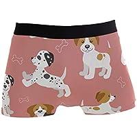 Winne Bag Divertido Cachorro Perro Beagle patrón dálmata Calzoncillos bóxer Ropa Interior Masculina niños Estiramiento Transpirable Troncos de Baja Altura S XL