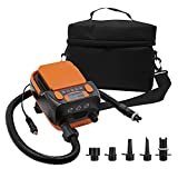 Electric Air Pump, 16PSI Quick-Fill Electric Rechargeable sup Pump for Inflating/Deflating Inflatable Boat, Air Mattress, Swimming Ring, Inflated Toy, Yoga Ball,Boat, Indoor & Outdoor Camping